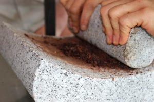 Broyage du grué de cacao